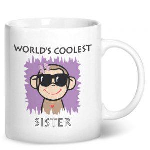 Worlds Coolest Sister – Printed Mug