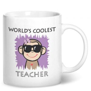 Worlds Coolest Teacher Pink – Printed Mug