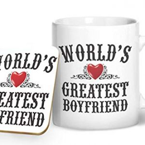World's Greatest Boyfriend – Printed Mug & Coaster Gift Set