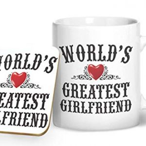 World's Greatest Girlfriend Mug And Matching Coaster Set – Printed Mug & Coaster Gift Set