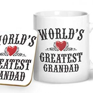 World's Greatest Grandad Mug And Matching Coaster Set – Printed Mug & Coaster Gift Set