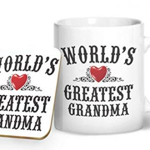 World's Greatest Grandma Mug And Matching Coaster Set – Printed Mug & Coaster Gift Set