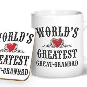 World's Greatest Great Grandad Mug And Matching Coaster Set – Printed Mug & Coaster Gift Set