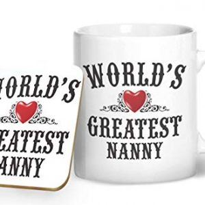 World's Greatest Nanny Mug And Matching Coaster Set – Printed Mug & Coaster Gift Set