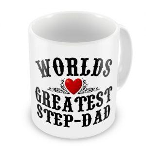 Worlds Greatest Step-Dad Novelty Gift Mug