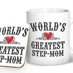 World's Greatest Step Mom – Printed Mug & Coaster Gift Set