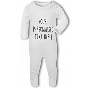 Your Personalised text! Mummy, Daddy, Auntie, Uncle, Grandma, Grandad, love etc – Baby Romper Suit