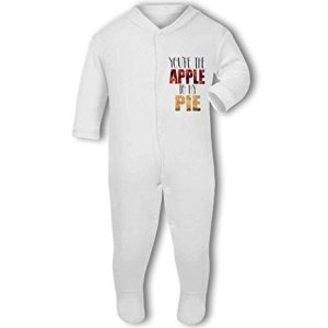 Youre the Apple to my Pie cute funny food – Baby Grow