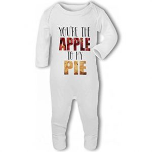 Youre the Apple to my Pie cute funny food – Baby Romper Suit