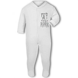 You're the Salt to my Pepper .cute with hearts – Baby Grow
