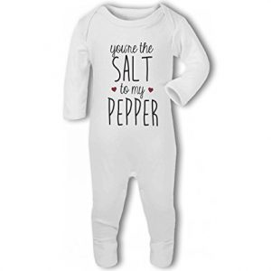 You're the Salt to my Pepper .cute with hearts – Baby Romper Suit