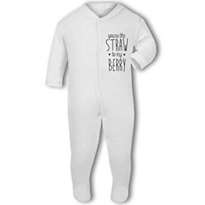 You're the Straw to my Berry .cute with hearts – Baby Grow