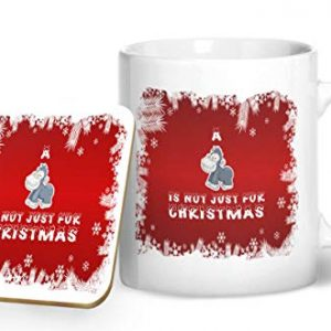 An Ape is Not Just for Christmas – Printed Mug & Coaster Gift Set